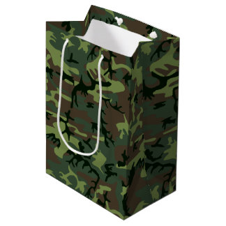 Tarnungs-Camouflage-Grün-Brown-Muster Mittlere Geschenktüte