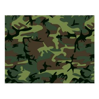 Tarnungs-Camouflage-Grün-Brown-Muster Postkarte