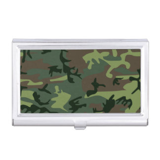 Tarnungs-Camouflage-Grün-Brown-Muster Visitenkarten Dose