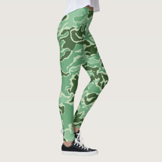 Tarnungs-Camouflage-Grün-Gelb Leggings