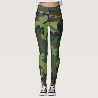 Tarnungs-Camouflage-Grün-Schwarzes Brown Leggings