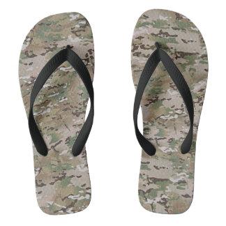 Tarnungs-Camouflage-multi Gelände-Grün Brown Flip Flops