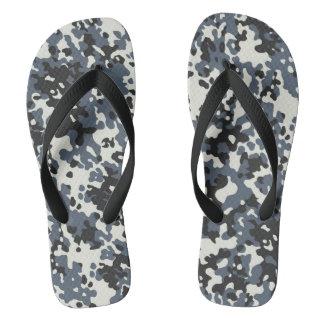 Tarnungs-Camouflage-Polizei-graues Schwarz-weißes Flip Flops