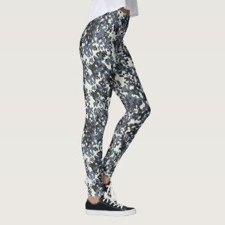 Tarnungs-Camouflage-Polizei-graues Schwarz-weißes Leggings