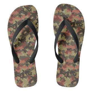 Tarnungs-Camouflage-Waldkakifarbiger grüner Rost Flip Flops
