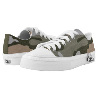 Tarnungs-Grün und TAN-Turnschuh Niedrig-geschnittene Sneaker