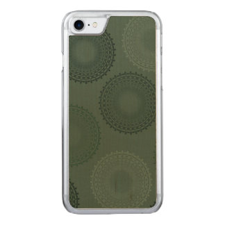 Tarnungs-grüner SpitzeDoily Carved iPhone 8/7 Hülle
