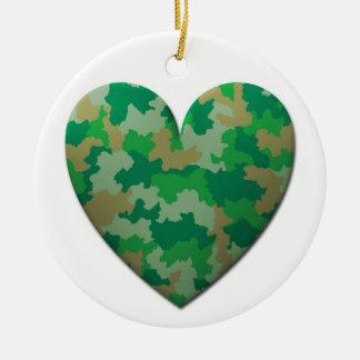 Tarnungs-Herz-Feiertags-Verzierung Rundes Keramik Ornament