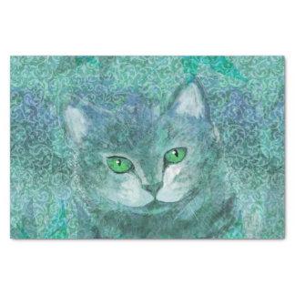 Tarnungs-Katzen-Natur-Garten Seidenpapier