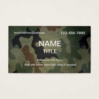 Tarnungs-Muster Visitenkarten