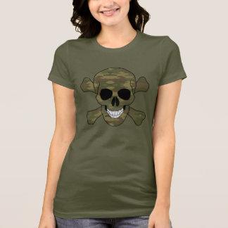 Tarnungs-Schädel und Knochen-Shirt T-Shirt