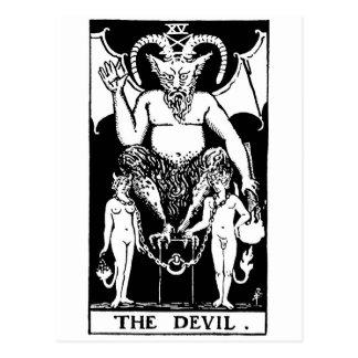 Tarot 'devil postkarte