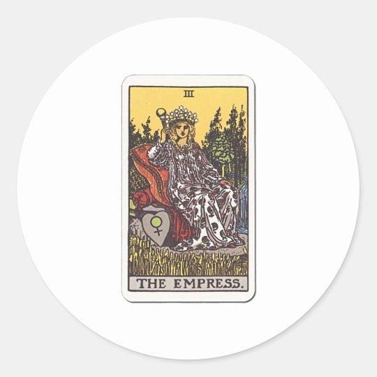 Tarot Die Herrscherin The Empress Runder Aufkleber