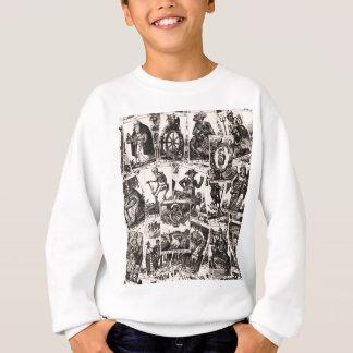 Tarot kardiert Muster Sweatshirt