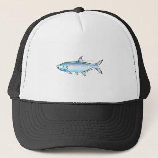 Tarpon-Ozeangamefish-Illustrationsvektor Truckerkappe