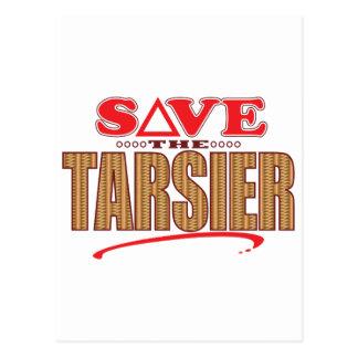 Tarsier retten postkarte