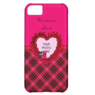 Tartan-Teddybären Liebe-iPhone 5c Fall iPhone 5C Hülle