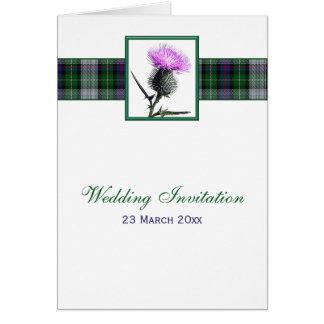 Tartan-und Distel-Karten-Art-Hochzeits-Einladung Karte