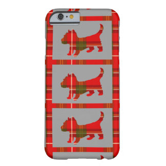 Tartan-Welpe auf iPhone 6/6s kaum dort Fall Barely There iPhone 6 Hülle