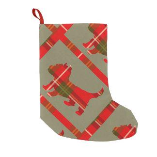Tartan-Welpen-WeihnachtsStrumpf Kleiner Weihnachtsstrumpf