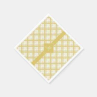Tartanmuster der Streifen und der Quadrate Papierserviette
