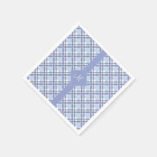 Tartanmuster der Streifen und der Quadrate Serviette
