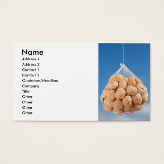 Tasche der Nüsse Visitenkarte