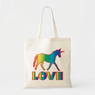 Tasche der Unicorn-Liebe- Regenbogen