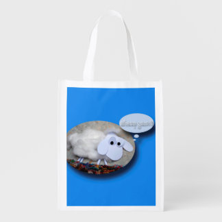 Tasche des niedliche Schaf-chinesische neues Wiederverwendbare Einkaufstasche