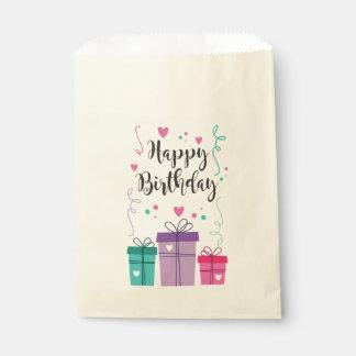 Tasche des Papiers Happy Birthday Geschenktütchen
