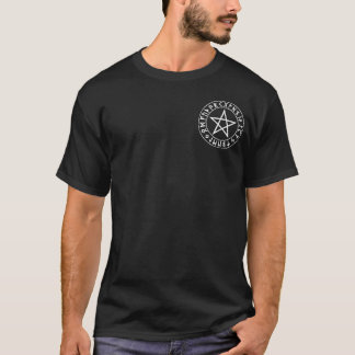 Tasche Rune-Pentagramm auf Schwarzem T-Shirt