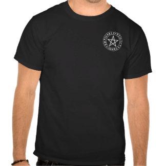Tasche Rune-Pentagramm auf Schwarzem Tshirt