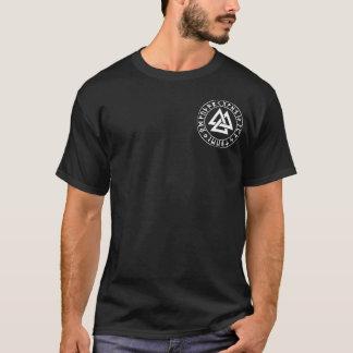 Tasche Tri Dreieck Rune-Schild auf Schwarzem T-Shirt