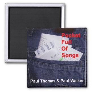 Tasche voll des Lied-Kühlschrankmagnets Quadratischer Magnet