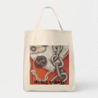 Taschen des rostigen Farbbleistift-Kunstdruckes