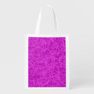 Taschen-lila Netz Wiederverwendbare Einkaufstasche