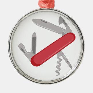 Taschen-Messer Silbernes Ornament