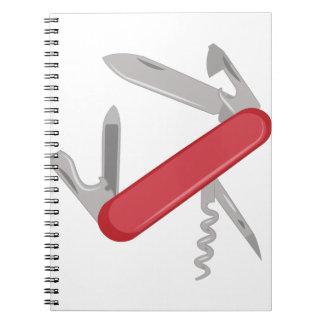Taschen-Messer Spiral Notizblock