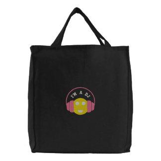 Taschen-Schablone smiley DJ Embroidere Bestickte Tragetasche