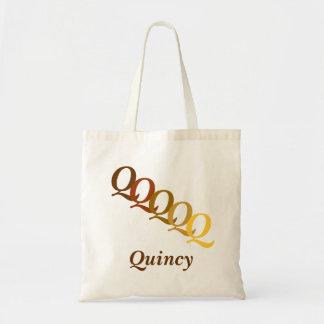 Taschen-Tasche - Buchstaben und Name im Braun Tragetasche