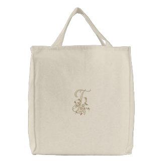 Taschen-Tasche des Blumen-Monogramm-T