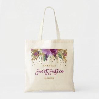 Taschen-Tasche des Glitter-funkelnde Amethyst Tragetasche