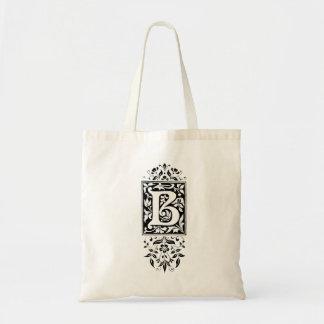 """Taschen-Tasche des Monogramm-""""B"""" Budget Stoffbeutel"""