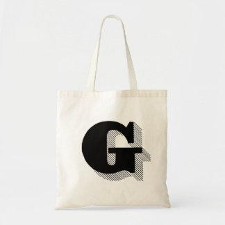 """Taschen-Tasche des Monogramm-""""G"""" Budget Stoffbeutel"""