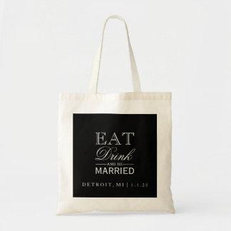 Tote Bag   Eat Drink & Be Married