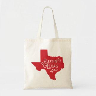 Taschen-Tasche Kunst-Deko-Art-Austins Texas - Rot Tragetasche