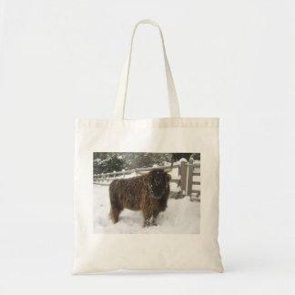 Taschen-Tasche mit Hochland-Kuh-Bild Tragetasche