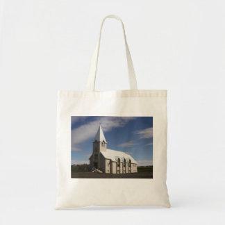 Taschen-Tasche mit isländischem Kirchen-Bild Tragetasche