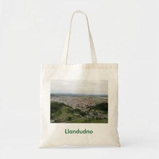 Taschen-Tasche mit Llandudno Bild auf Front Tragetasche