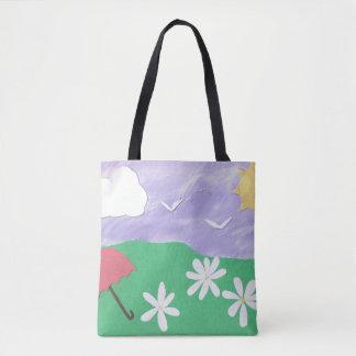 Taschen-Tasche mit Szene im Freien Tasche